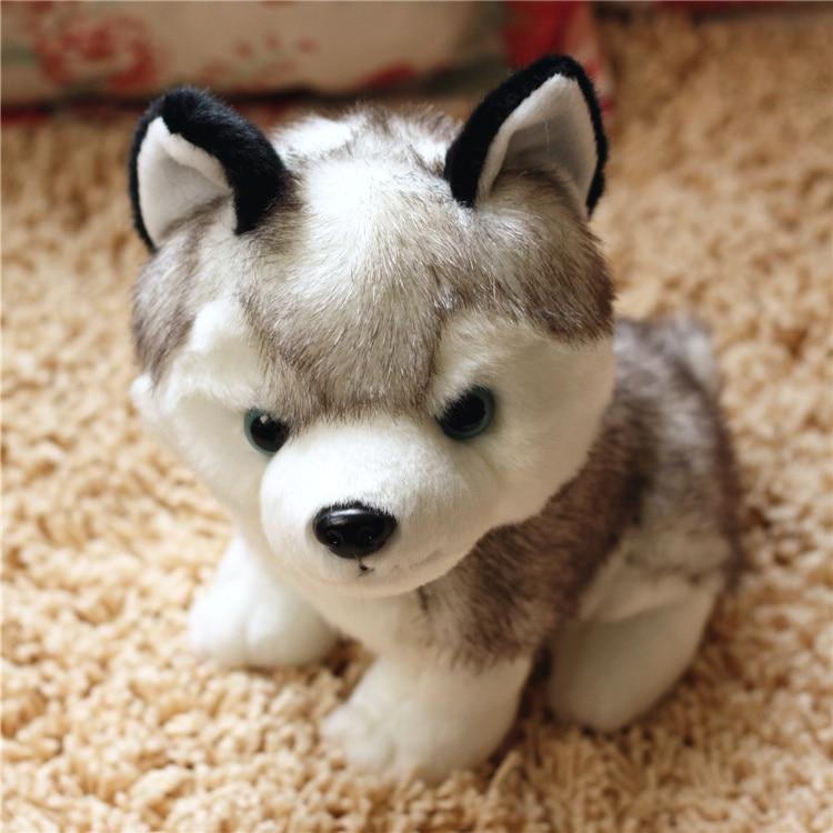 ∞Kawaii 18/22/28 cm simulación Husky perro Peluche de juguete ...