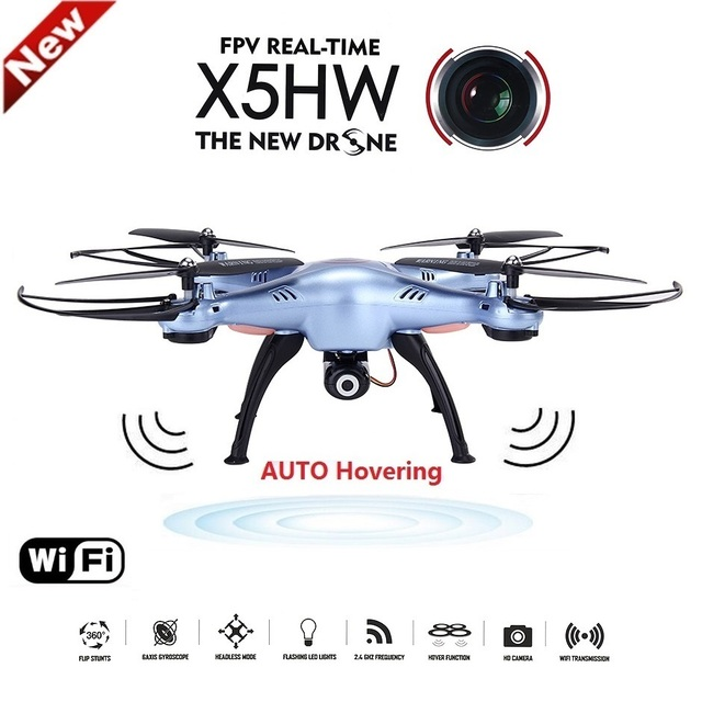 X5HW RC Quadcopter FPV Drone With WiFi Camera 2.4G 6-Axis Dron RC Helicopter VS jjrc h33 with 5 battery + AC Charger