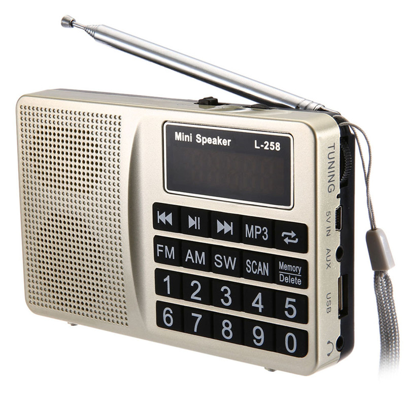 Radio FM bluetooth World Bank Receiver Radio Portable FM AM SW radio Bass Speaker MP3 Speaker Player LCD AUX US TF Stereo Radio