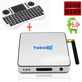 Yokatv KB2 S912 Amlogic Android 6.0 Tv Box 2 GB 32 GB 1000 M LAN Media Player Wi-fi Bluetooth 4.0 Teclado I8 H.265 4 K * 2 K Opcional