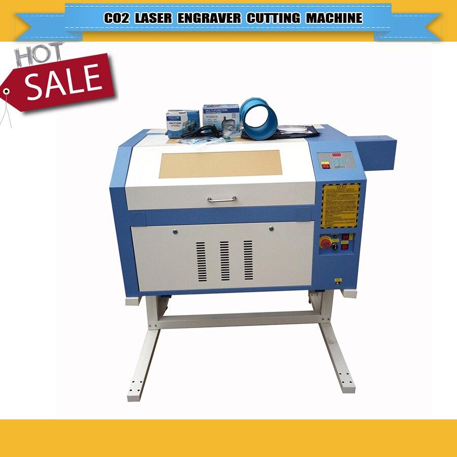 Chine fournisseur CNC Co2 laser graveur machine de découpe en caoutchouc machine 4060/6040 avec rotatif utilisé pour verre bouteille verre tasse