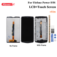 Alesser For Ulefone Power 5 LCD Display and Touch Screen +Frame +Film Repair Parts +Tools +Adhesive For Ulefone Power 5S LCD