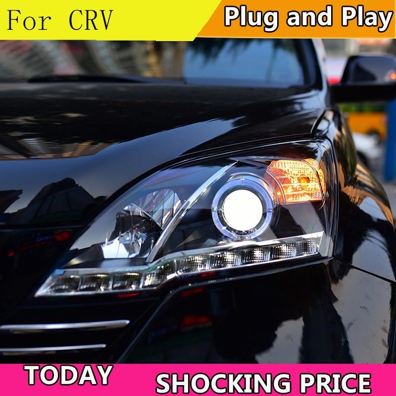 Style de voiture pour Honda CRV phares 2007-2011 pour CRV LED lampe frontale ange eye LED DRL avant lumière bi-xénon lentille xénon
