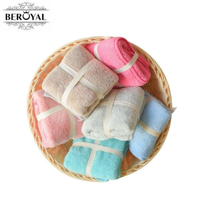 8 pz/lotto Beroyal Marca Microfibra Viso Asciugamano Quadrato Sveglio Del Bambin