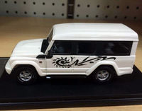 نادر-iveco كتلة صخرية jeep 1/43 مقياس دييكاست نموذج سيارة بيضاء ذات جودة عالية