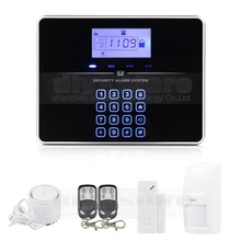DIYSECUR Touch Keypad Wireless GSM PSTN Intercom Mornitor House Intruder Alarm System Voice Prompt G33