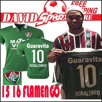 1a9d1e3b4 camisa Fluminense FC 15 16 soccer jersey best thai quality Fluminense 2016  Green LEO MOURA ELANO HERNANE ZICO football uniform