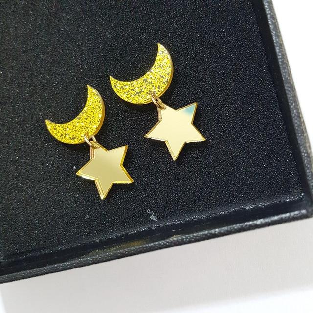 Sailor Moon Star And Moon Earrings