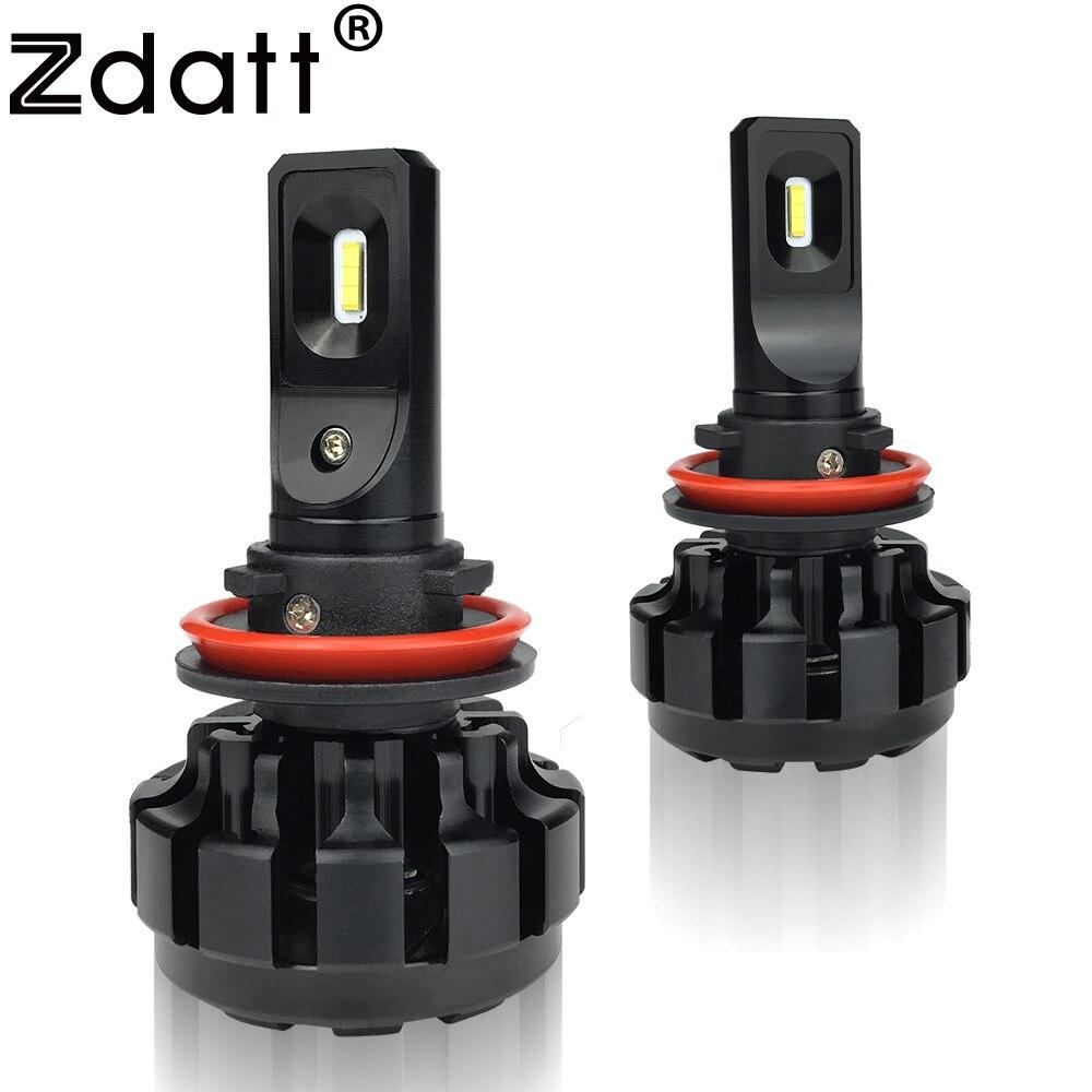 Zdatt 2Pcs Super Bright Led Lamp H11 H8 Canbus Headlights 60W 9600Lm Car Led Light 12V Fog Lamp Automobiles мгновения