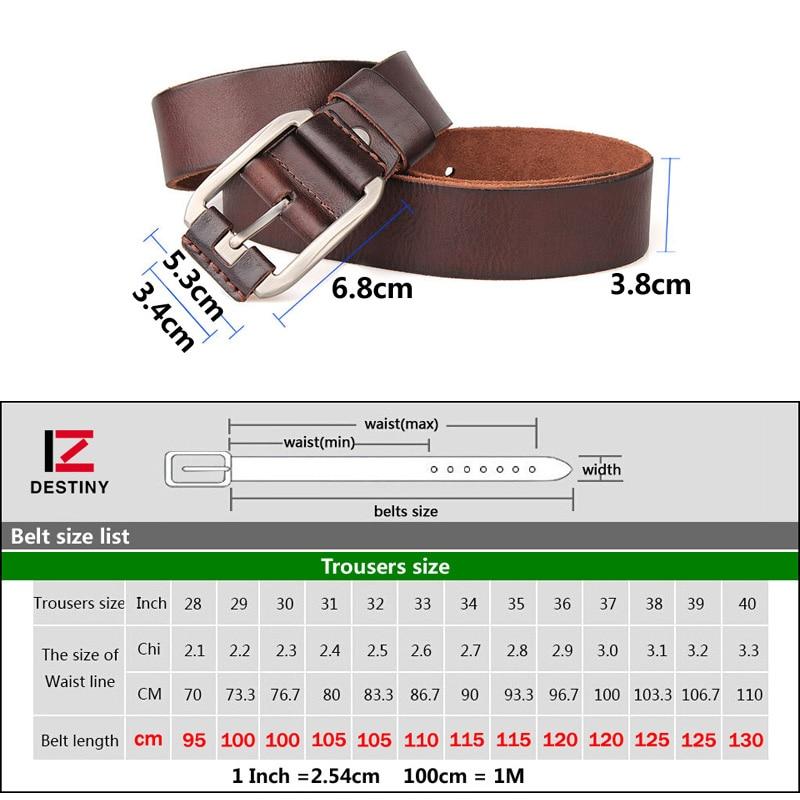 DESTINY Rripa të rripave për burra Dizajneri luksoz rrip lëkure - Aksesorë veshjesh - Foto 6