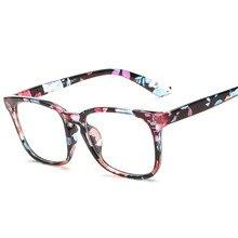 2018 Baru Retro Bunga warna Ada gelar Komputer kacamata bingkai untuk pria  wanita Optik batal lens kacamata Vintage Kacamata kac. b0f7451d75