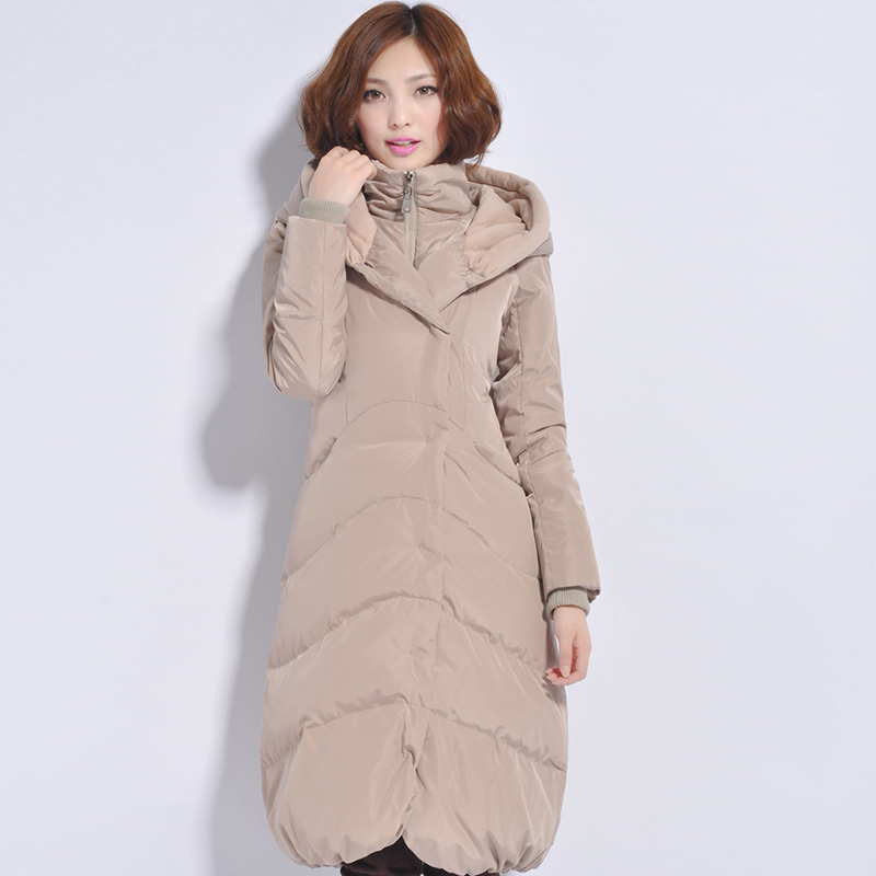 Online Shop Women winter jacket long knee length down jacket plus ...