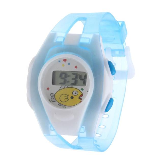 Dropshipping Boy Girl Student Sport Time Clock Electronic Digital LCD Wrist Watc