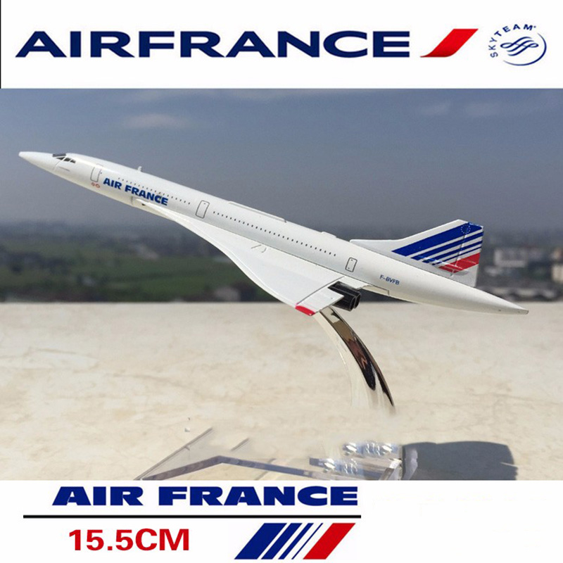 kids toys 1/400 scale concorde air France diecast airplane model collectible passenger aircraft toys for children gifts image