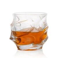1 adet 350ML Viski Bardağı Scotch Gözlük Benzersiz Zarif Bulaşık Makinesi Güvenli Cam Likör veya Bourbon Bardaklar Ultra Netlik cam