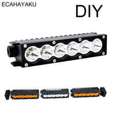 ECAHAYAKU New product 7inch Single row Car Led Light Bar 30W 6500K 4300K Modular Driving for Off road SUV ATV UTE 4WD