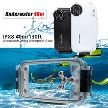 Caso que se zambulle para iPhone 7 Más 6 s 6 Cubierta IPX8 40 m/130ft 40 m Caso Impermeable para el iphone 6 s Plus 6 7 Plus Coque Copa