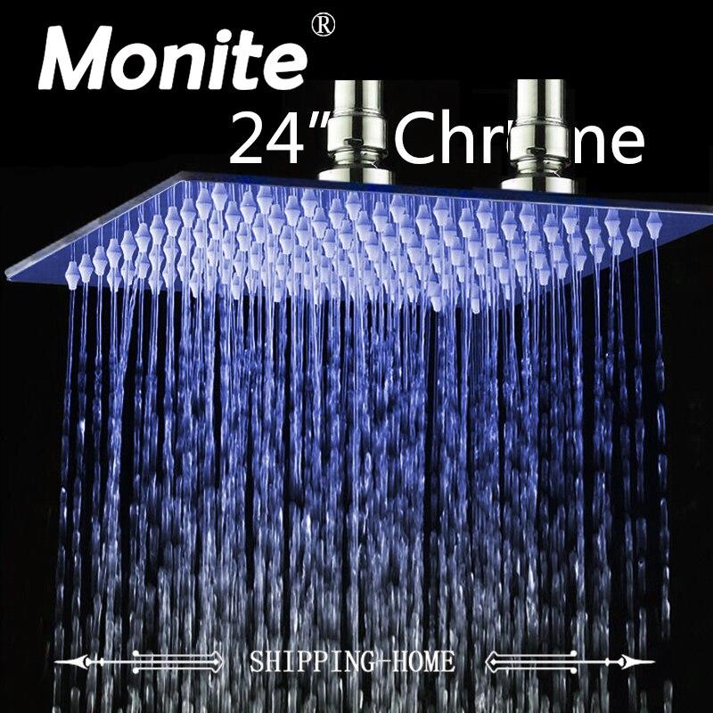 24 Inch Rain Shower Head B8136 Stainless Steel Shower Head Bathroom Ultra-thin Shower Head