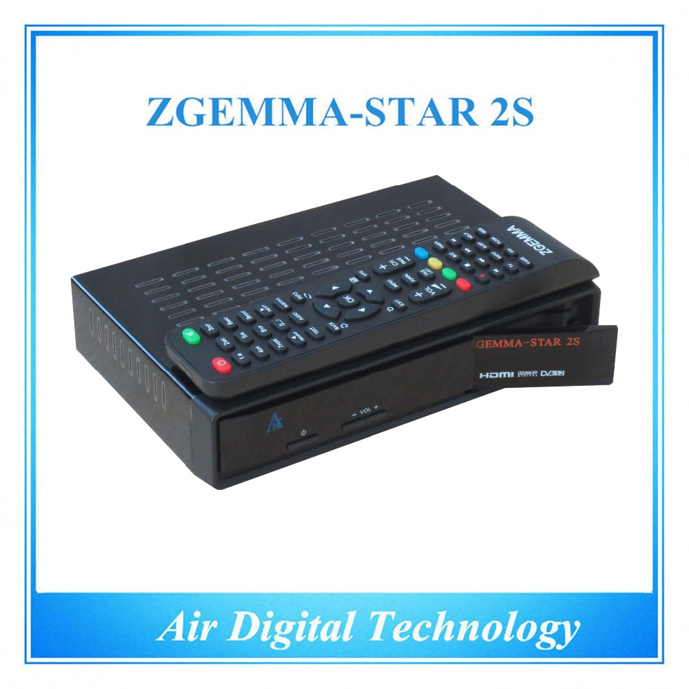 20pcs/lot Official High-Tech Software Supported Zgemma-Star 2S FTA Satellite Receiver With DVB-S2+DVB-S2 Twin Tuners IPTV Box usb 20 software radio dvb t