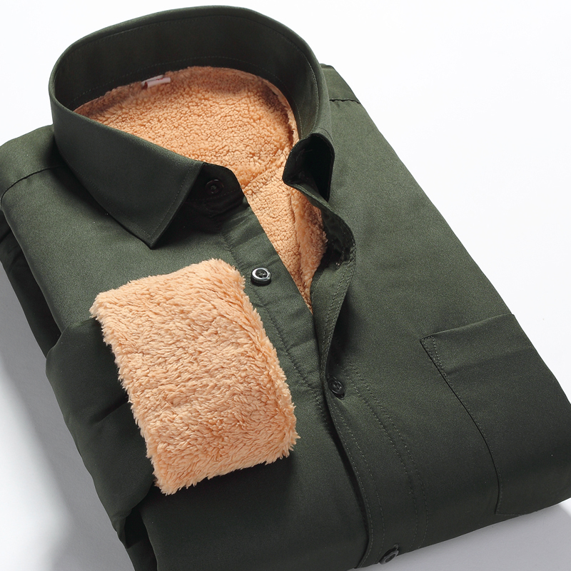 Cămașă de iarnă cămașă cald casual subțire se potrivesc cu - Imbracaminte barbati