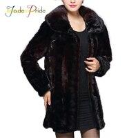 Jade Pride 2017 Mink Fur Mother Loaded Middle Aged Mink Coat Female Fur Mink In The