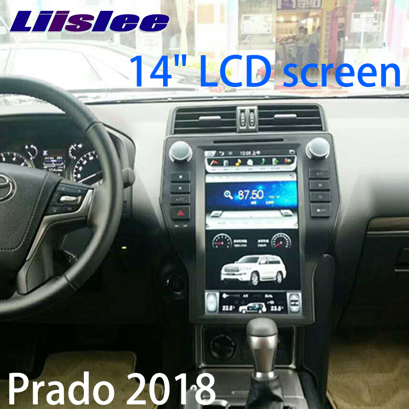 LiisLee Car Multimedia GPS Hi-Fi Audio Radio Stereo For TOYOTA Land Cruiser Prado J150 LC150 2018 Original Style Navigation NAVI