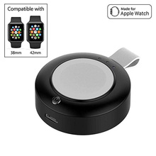 Apple Watch Wireless Charger  Portable Travel Battery Mini Keyring IWatch Charger Compatible with Apple Watch Series 4 3 2 1
