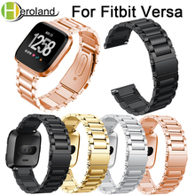 Stainless Steel For Fitbit Versa Wrist Band Replacement Strap band metal Smart Watch Band Strap bracelet accessories watch men accessories stainless steel bracelet replacement watchbands for fitbit versa smart band metal strap wrist band with diamond new