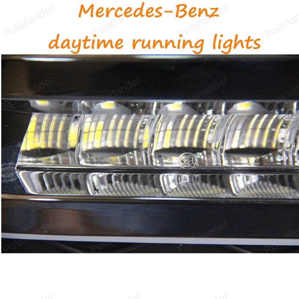 For Mercedes-Benz GL450, Mercedes-Benz W164 LED DRL DAYTIME LIGHTS FOG LAMPS DRIVING DAYTIME LIGHTS