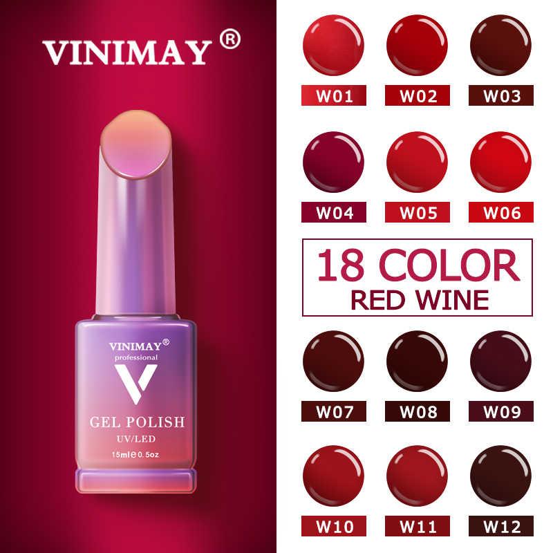 VINIMAY מכירה לוהטת אדום ג 'ל לק vernis חצי permanant UV לספוג את Gelpolish נייל אמנות ג' ל לכה מניקור ציפורני ג 'ל lacque