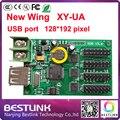 Бесплатная доставка 128*192 пикселей rgb новое крыло светодиодный контроллер карты XY-UA для наружной светодиодный дисплей панели rgb led знак рекламы