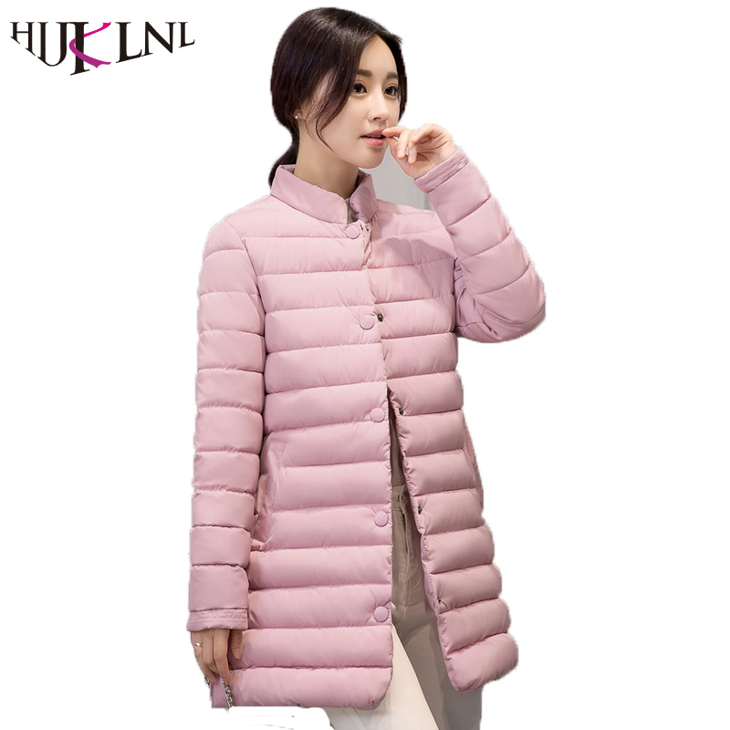HIJKLNL 2017 New Winter Female Cotton Jacket Long Thicken Coat Casual Korean Style Women Parkas Overcoat