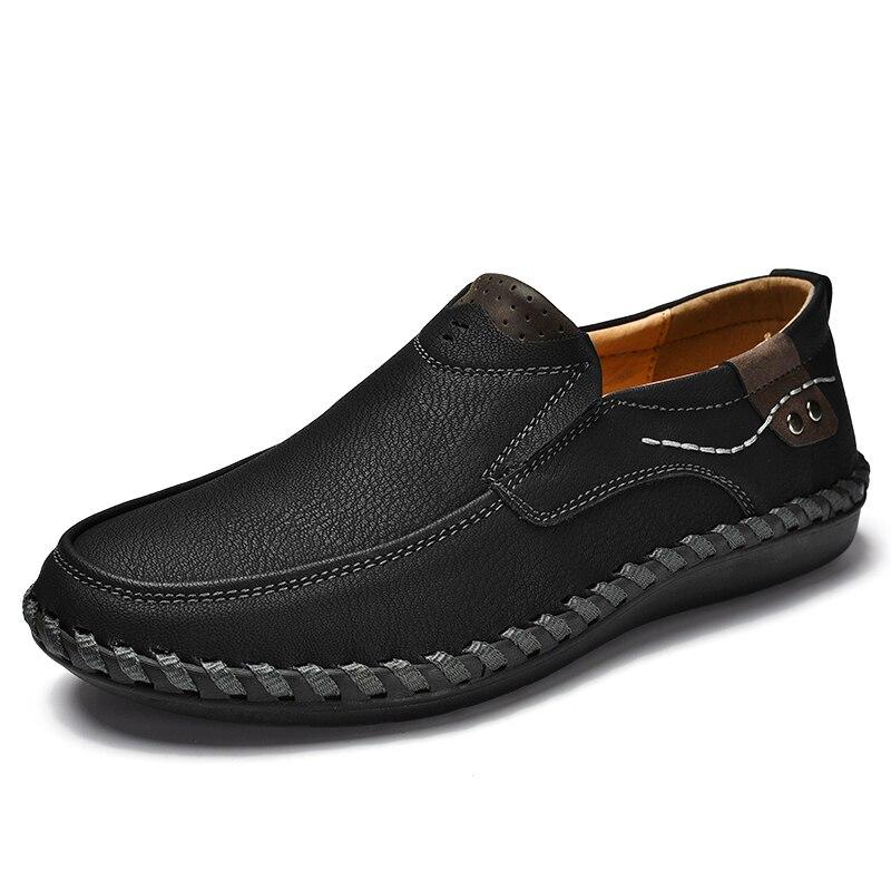 Hommes Sapatos Chaussures Confortable De khaki Mocassins brown Marque Casual D'affaires Sneakers Black Souple Masculino Cuir Véritable Sex3 En Homme BWxordQCe