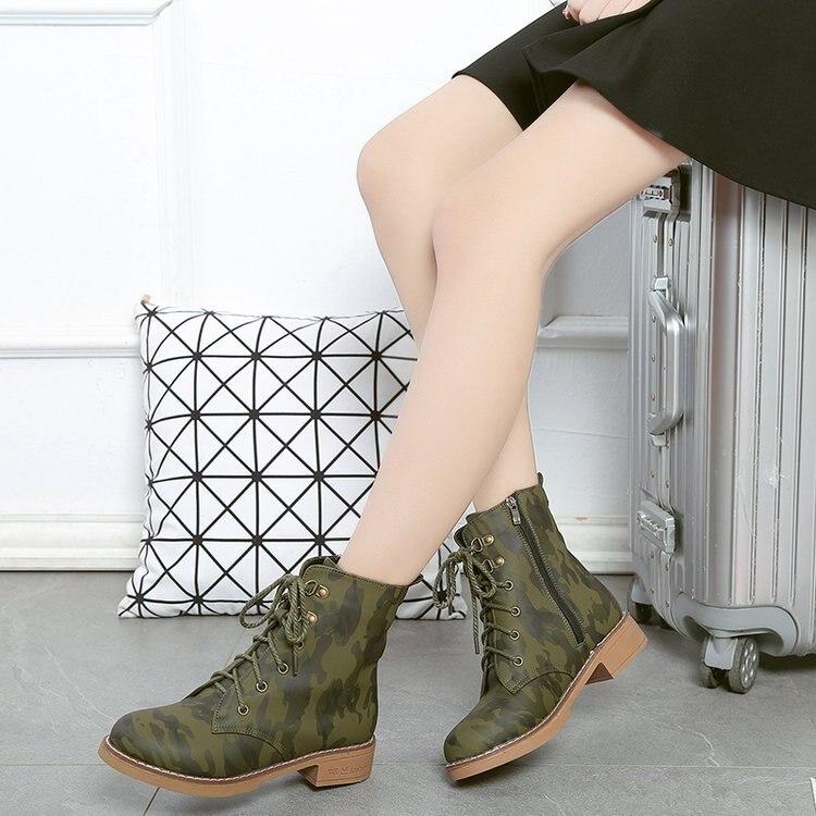 De Botas Tacones Combate Camuflaje 2 19 Tobillo Cuero Plataforma Tops Martin Nieve Mujeres Zapatos 1 Mujer Militar Para Las qwfRE0C