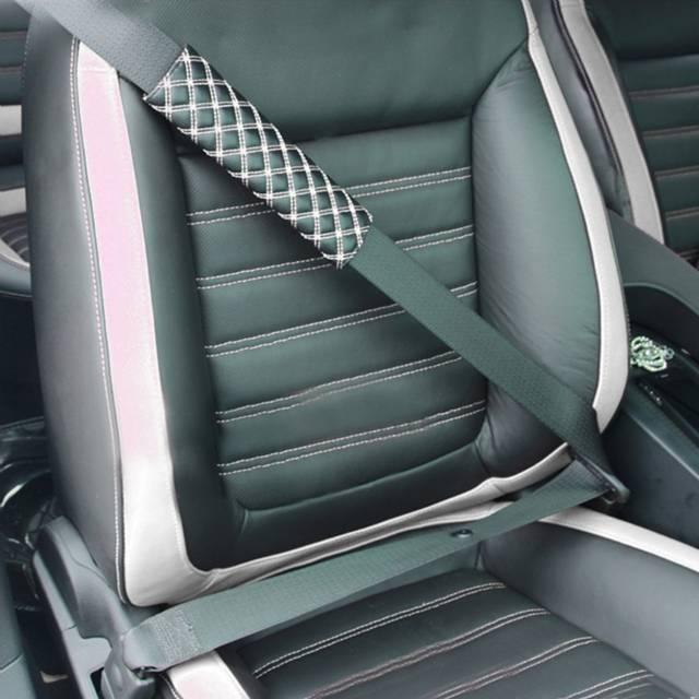 2PCS Adjustable Car Safety Seat Belt Shoulder Pad Microfiber Leather  Vehicle Cushion Harness Pad Soft Auto Seat Belts Padding