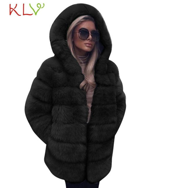 Women Jacket Winter 2018 Faux Fur Hooded Luxury Long Plus Size Ladies Chamarra Cazadora Mujer Coat For Girls 18Oct29 1
