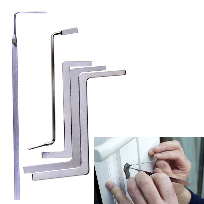 Liushi 5Pcs/lot Multifunction Locksmith Tools Metal Row Tension Rod/Push Rod Tubes Tension Wrench For Locksmith Supply
