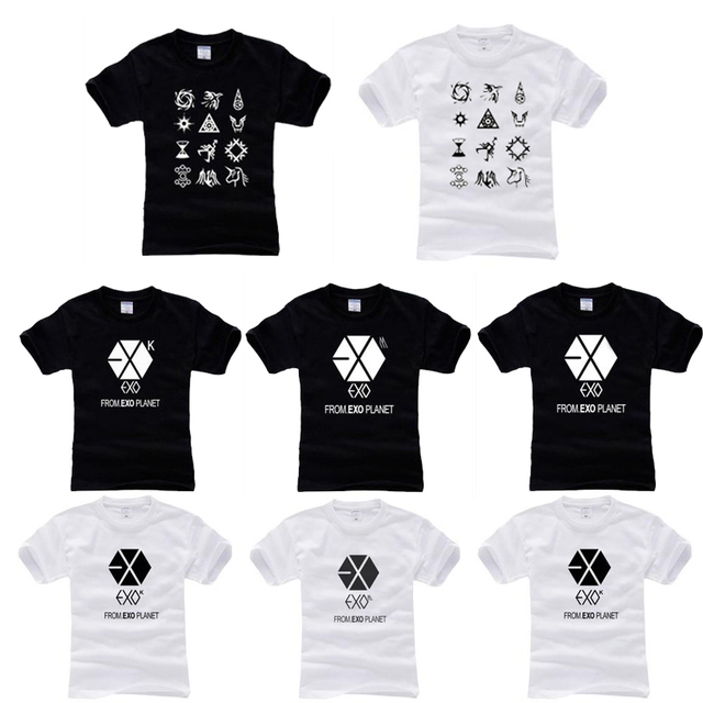 Free shipping, wholesale/drop shipping Exo exo m mama t-shirt clothes  pink black white