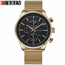 Top Marque De Luxe Or Montre Horloge Hommes Montres Sport Quartz Montre Hommes Montres Militaires Relogio Horloge CURREN 8227
