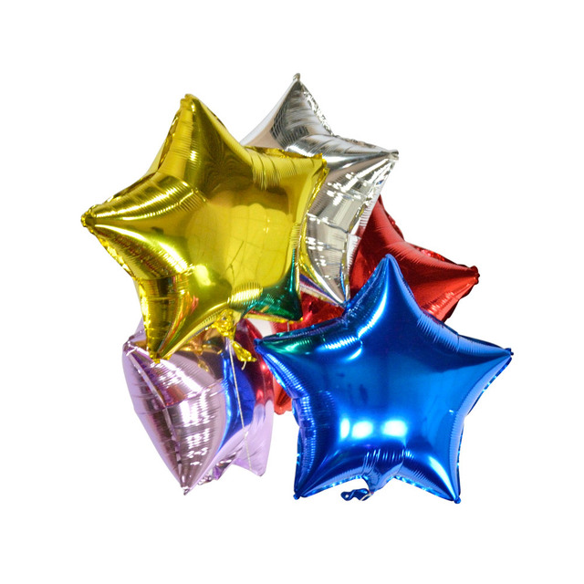 Foil Balloons Star Balls Happy New Year Party Decoration Air Helium Balloons Home For Christmas Gift For Holiday Birthday 5pcs