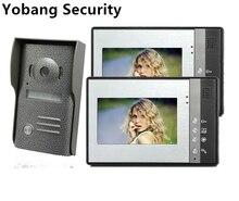 Yobang Security freeship Home 7 inch TFT LCD Monitor Color Video Door Phone 4 wire door Intercom IR Outdoor Camera Doorphone 1V2