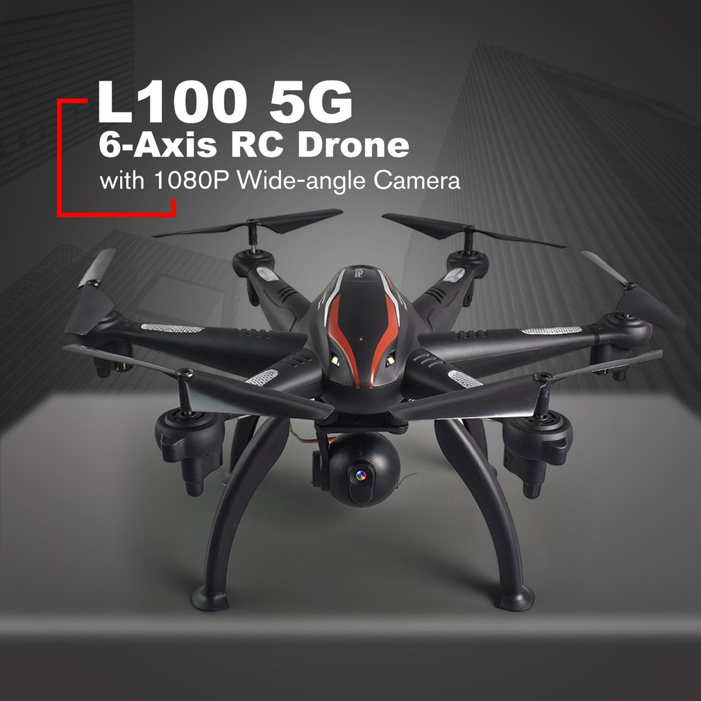 L100 6-Axe 4CH 720 p/1080 p HD Grand Angle 2.4g/5g RC Drone quadcopter Aéronefs Avion WiFi FPV Double GPS 180 Réglable Caméra Dron