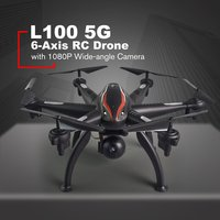 L100 6 Axis 4CH 720P/1080P HD Wide Angle 2.4G/5G RC Drone Quadcopter Aircraft Plane WiFi FPV Dual GPS 180 Adjustable Camera Dron