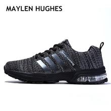 2018 мужские спортивные легкие кроссовки мужские Воздушные кроссовки дышащие сетчатые уличные прогулочные спортивные туфли мужская обувь Большие размеры 36-47