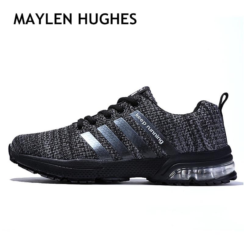 2018 hombres deporte luz hombres zapatos de zapatillas de deporte de malla transpirable caminar al aire libre Atlético zapatos de hombre de gran Plus tamaño 36-47