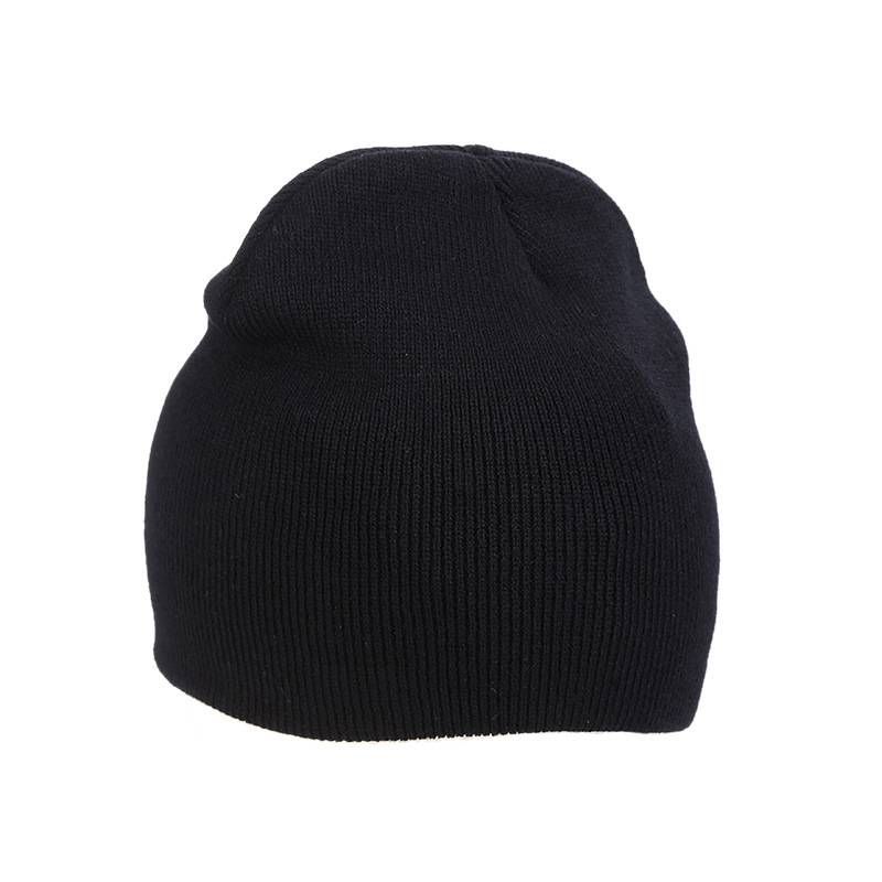 2018 Hat Unisex Cotton Solid Warm Soft   Beanie   Hip Hop Knitted Hats Men Winter Caps Women's   Skullies     Beanies   For Girl Bonnet Lady