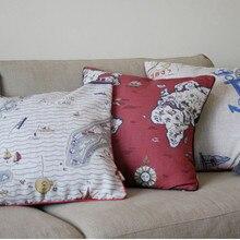 50x50cm Vintage de dos lados geometría creativa Lino Material almohada cojín fundas de almohada decoración del hogar sofá cojines