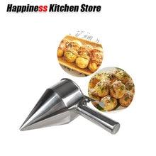 Takoyaki Octopus Ball Tool Cupcakes Baking Dispenser Stainless Steel  with Rack Kitchen Utensils Funnel Tools