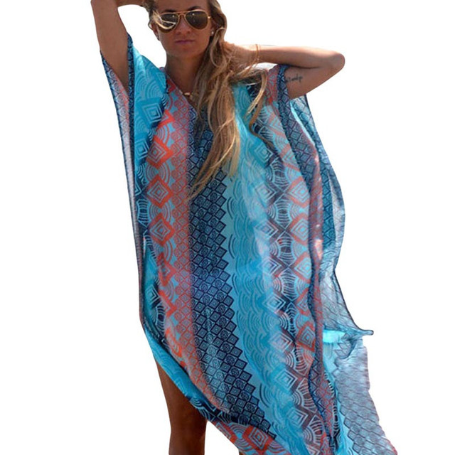 Women's Turquoise Wave Beach Cover-Up 4