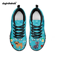 Doginthehole Cute Veterinarian Sneakers Women Outdoor Breathable Mesh Sports Shoes Lightweight Slip On Footwear Walking Shoes
